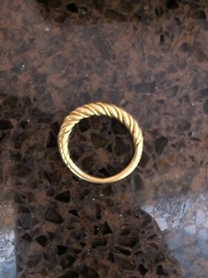 Viking Gold Twisted Ring 9-11th Century AD amazing piece!  wearable!! 5.7g