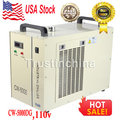 CW-5000DG Industry Air Water Chiller CO2 Laser Engraving Cutting Machine 110V