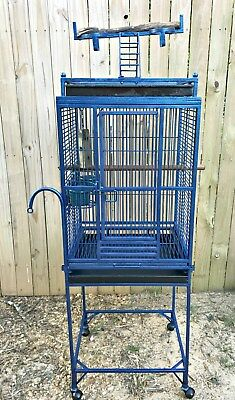 Vintage Iron Large Bird Pet Cage  Play Top Parrot Finch Cage