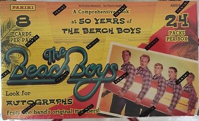 The Beach Boys - 50 Years of Sealed Hobby Box Trading Cards 2 Relics - Panini