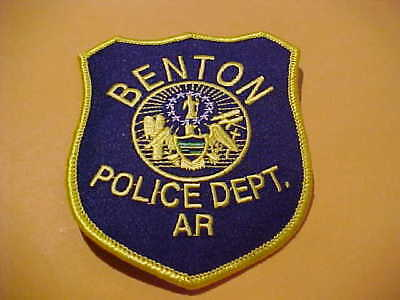 Benton Arkansas  Police Patch Shoulder Size New