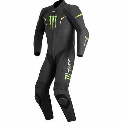 Monster Energy Motorcycle Leather Racing Suit CE Approved Armors Hump S-4X