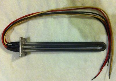 """Chromalox Square Flanged Immersion Heating Element 3KW 480V 2.5"""" Flange 11.25"""""""