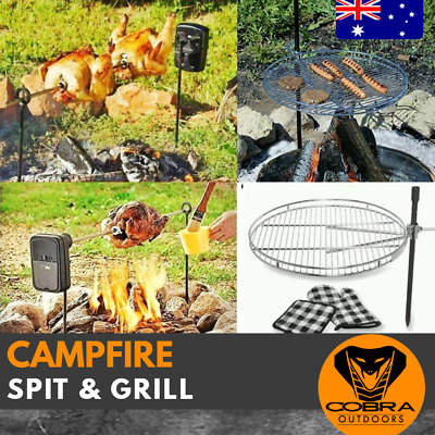 CAMP AND SPIT Grill Campfire BBQ outdoor Portable Cooking Fishing STAINLESS BOAT