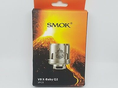 PACK DE 3 RESISTANCES Smoktech SMOK TFV8 BABY X, x baby beast brother coil  Q2
