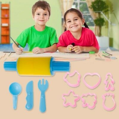 10Pcs Clay Scuplture Tools Playing Kids Toy Set Craft Plastic Colorful Mold
