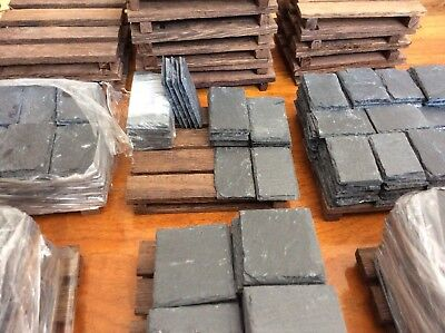 "120X REAL SLATE Miniature/Dolls House Slates Realistic Finnish 1"" Sq"