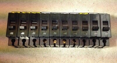 Lot Of 10 Square D EHB14020 Circuit Breaker 3P 20amp 277v All Very Nice