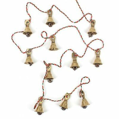 2 Layer 11 Metal Bells Each Brass String of Vintage Style Door /Wall Hanging ++A