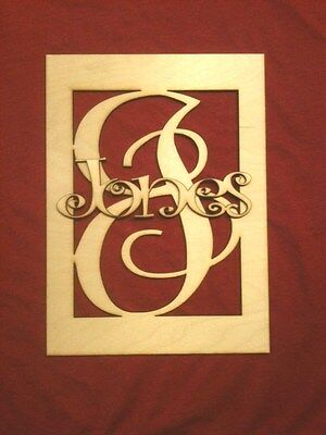 """12"""" Wooden Boxed Letter with Name Unfinished DIY wood monogram home Decor Custom"""
