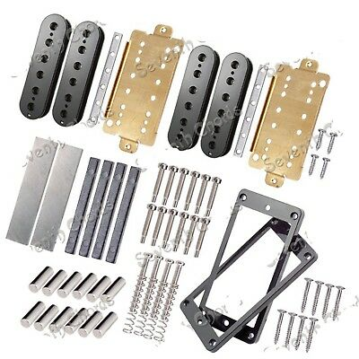 1Set Unmagnetized Alnico 5 Bar Magnet Double coil Humbucker Pickup Kits Accessor