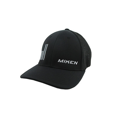 Miken Hat by Pacific (404M) All Black/Grey Flag SM/MD