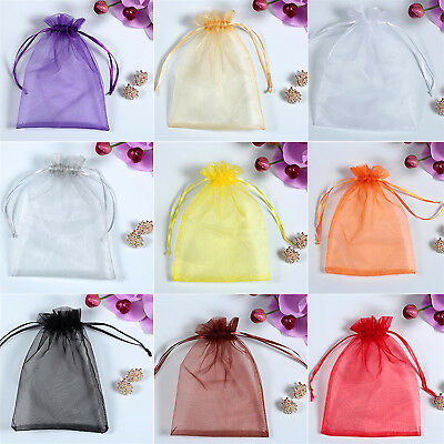 50PCS Organza Wedding Xmas Party Favor Gift Candy Bags Jewellery Pouches POP