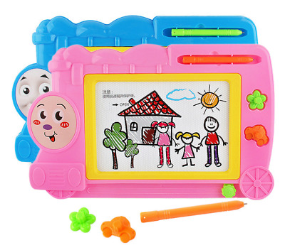 Magnetic Drawing Board for Kids Erasable Colorful Doodle Sketch Board - Pink