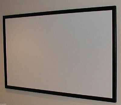 """110"""" Projector Projection Screen (Bare) Material Plus Diy Plans For Fixed Frame!"""