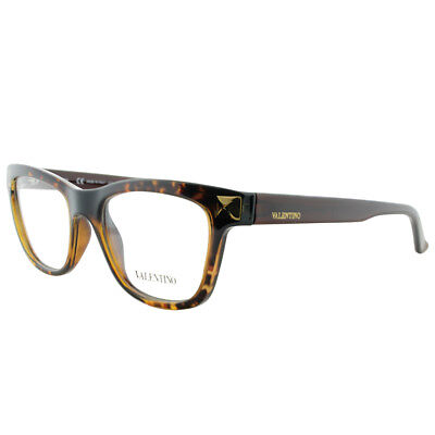 Valentino V2682 214 Havana Plastic Cat-Eye Eyeglasses 51mm