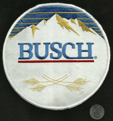 Vintage LARGE BUSCH BEER Pale Lager Collectors Patch - New Old Stock