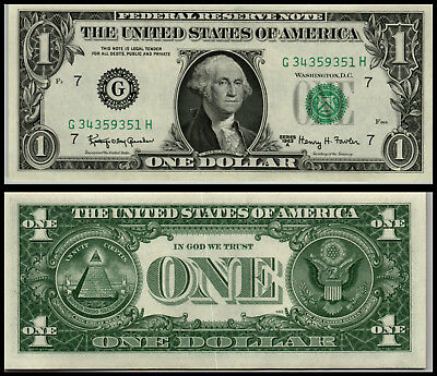 1963A  $1 Dollar Chicago Unc Federal Reserve Note Bill V142
