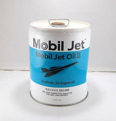 Empty Exxon Mobil Synthetic Jet Engine Oil II 5 Gallon Display Can (A)