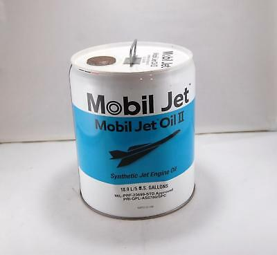 Empty Exxon Mobil Synthetic Jet Engine Oil II 5 Gallon Display Can (B)