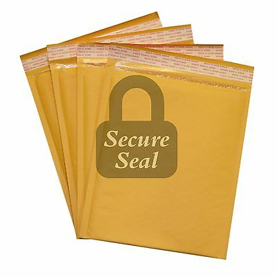 """50 #2 8.5x12 Kraft Bubble Mailers Self Seal Padded Envelopes 8.5"""" x 12"""""""