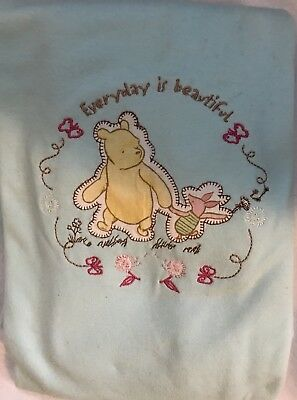 Classic Winnie The Pooh Everything Is Beautiful Girl Jersey Baby Blanket New
