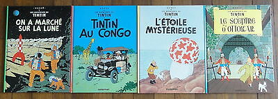 4 Anciennes Bandes Dessinées TINTIN No 5.
