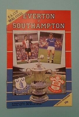 Everton v Southampton 84 F A Cup Semi final