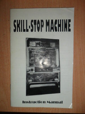 Original Pachislo Skill Stop Slot Machine Manual Great Information
