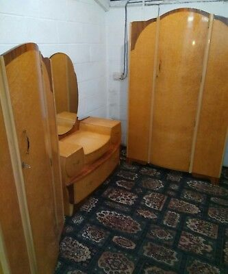 Vintage Bedroom suite Approx 1950