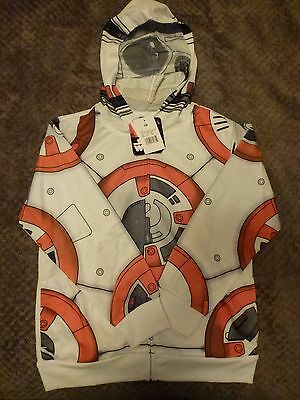 Disney Star Wars Youth BB-8 hoodie (Small) Mesh 1/2 face