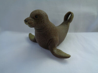 Brown Rubber Seal Pup Figure
