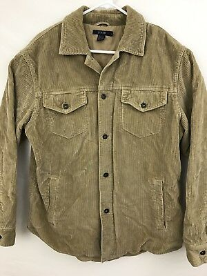 J. Crew Men's Corduroy Button Front Casual Jacket Coat Size Medium