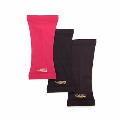 Copper Fit 3-pack Knee Ankle Elbow Zip knee Sleeves Socks Wrist Multiple Colors