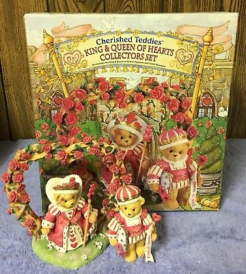 Cherished Teddies 1997 King And Queen Of Hearts Set #302732