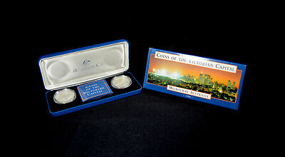 1998 2-Coin Reverse Frosted Melbourne Australia Coins of the Victorian Capital