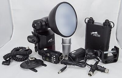 FLASH Cheetah (GODOX) CL-360 with Battery, Cable & Accessories