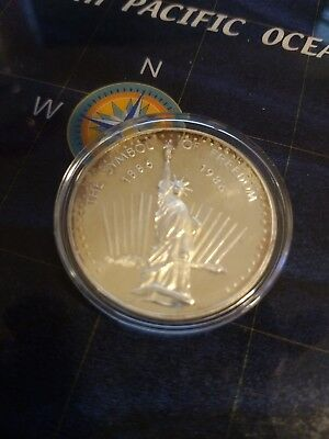 Statue Of Liberty Symbol Of Freedom 1 Troy Oz .999 Fine Silver Round Coin (1)