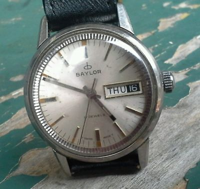 BAYLOR (Heuer) swiss vintage mens  watch from the 70's Mint !