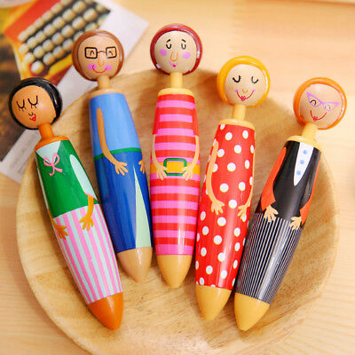 Lovely Doll Ballpoint Pens Colorful Girls Students Supplies Writing Stationery