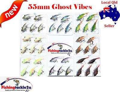 10 x Ghost Vibes Soft Plastic Vibe Fishing Tackle Lures 55mm 5.5g Bream Jacks