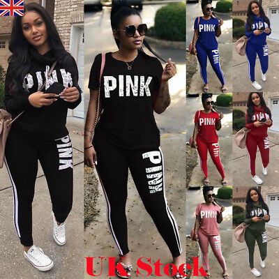 Fashion 2Pcs Women Tracksuit Hoodies Sweatshirt Pants Set Lounge Wear Sport Suit