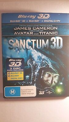 Sanctum [ 3D Blu-Ray + DVD Combo ] LIKE NEW, Free Next Day Post from NSW