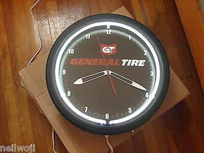 "General Tire....20""  Neon Clock New In Box..... DEALER ONLY ITEM.... RARE"