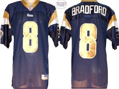 Maillot nfl Foot US américain RAMS N°8 Bradford Taille XL (us) -> 2XL (fr) BRODE
