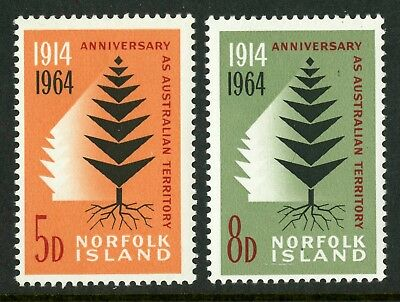 Norfolk Island   1964   Scott # 66-67  Mint Never Hinged Set