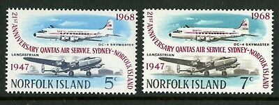 Norfolk Island   1968   Scott # 119-120  Mint Never Hinged Set