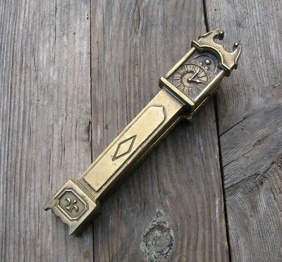 Vintage Solid Brass Reclaimed Grandfather Clock Door Knocker