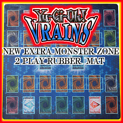 TCG Yugioh VRAINS  New Expert Rules Custom Rubber Playmat Link Extra monster