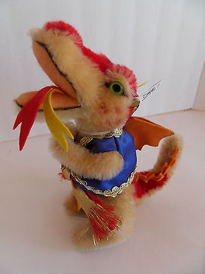 Steiff dragon fire eating dragon mohair spec. edition made in  Germany 1460